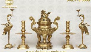 Mua đồ thờ bằng đồng mạ vàng uy tín ở đâu?