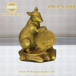 Chuột đúc bằng đồng vàng