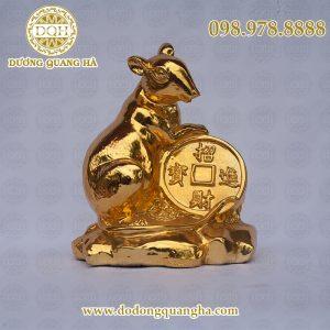 Chuột ôm tiền mạ vàng