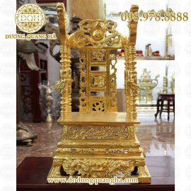 Ngai thờ bằng đồng dát vàng cao 81cm
