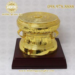 Quả trống đồng mạ vàng 20cm