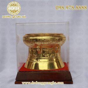 Quả trống mạ vàng kèm hộp