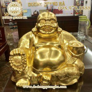 Tượng Di Lặc bằng đồng thếp vàng