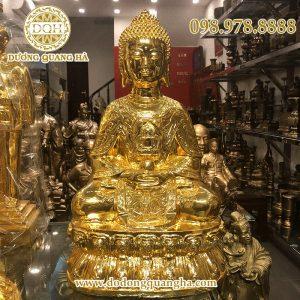 Tượng Phật Thích Ca Mâu Ni ngồi cầm bát mạ vàng