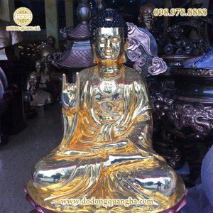 Tượng Tam thế Phật cao 1m1 mạ vàng 24k