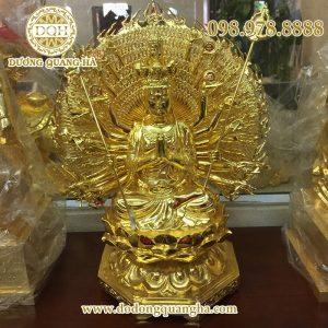 Tượng Phật thiên thủ thiên nhãn mạ vàng