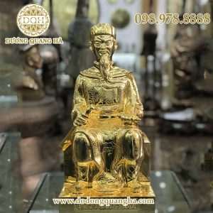 Tượng Trần Quốc Tuấn ngồi mạ vàng cao 50cm