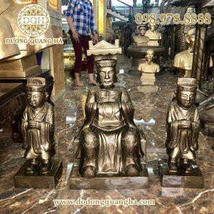 Tượng Vua cha Ngọc Hoàng, Nam Tào, Bắc Đẩu bằng đồng